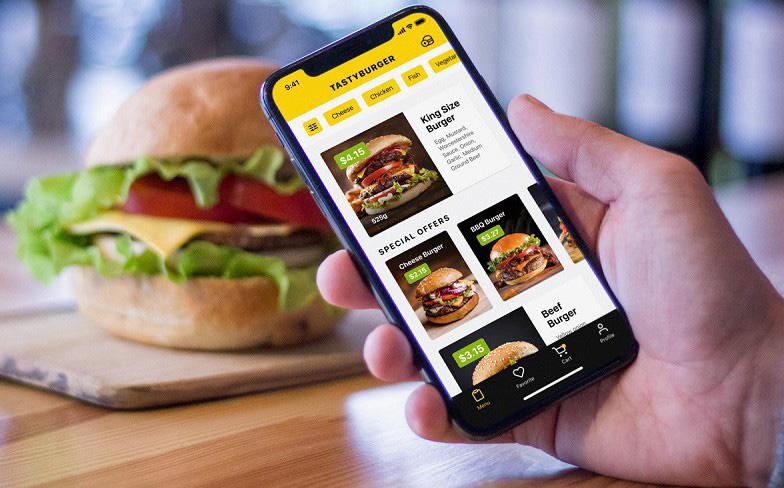 طراحی اپلیکیشن غذا