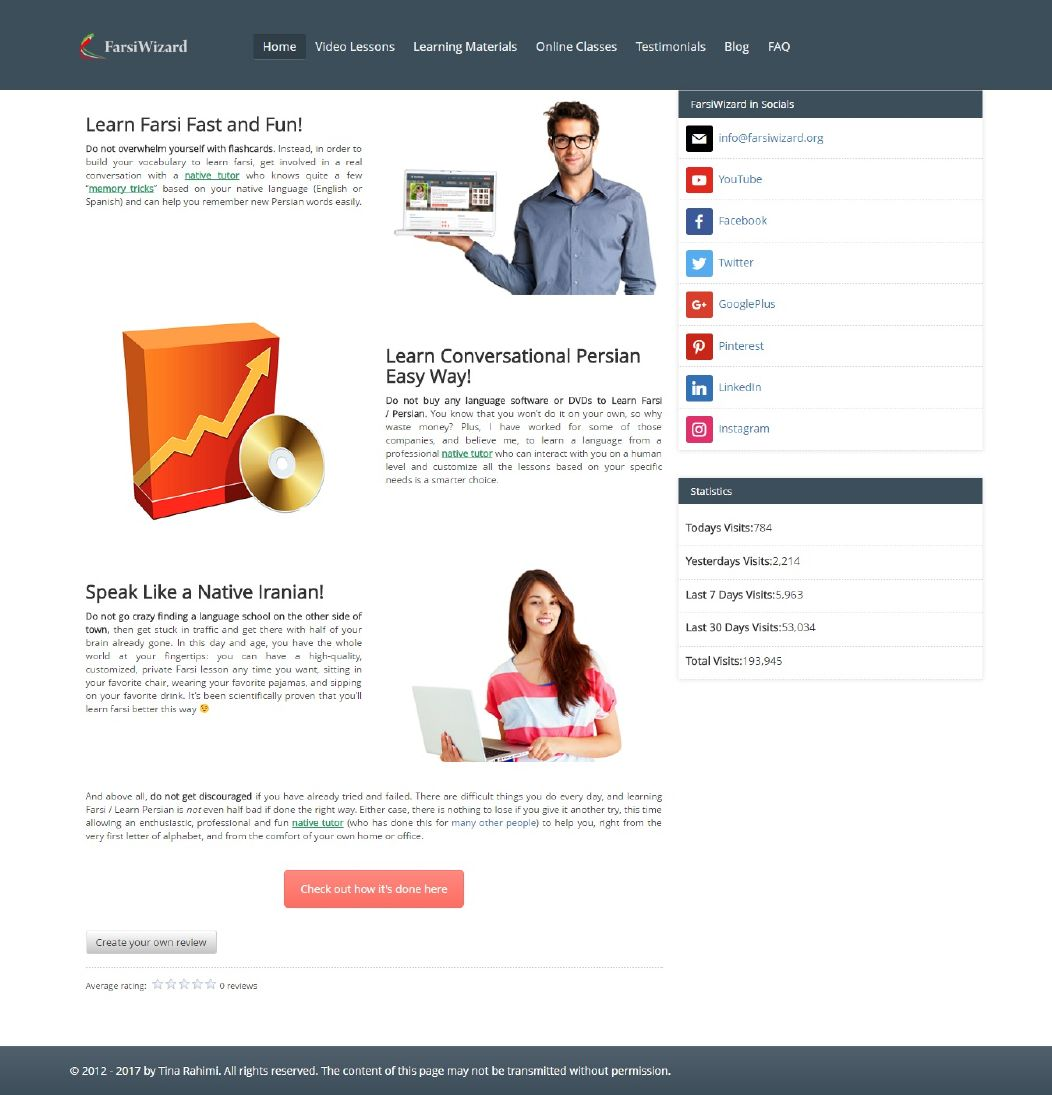 طراحی سایت فارسی ویزارد