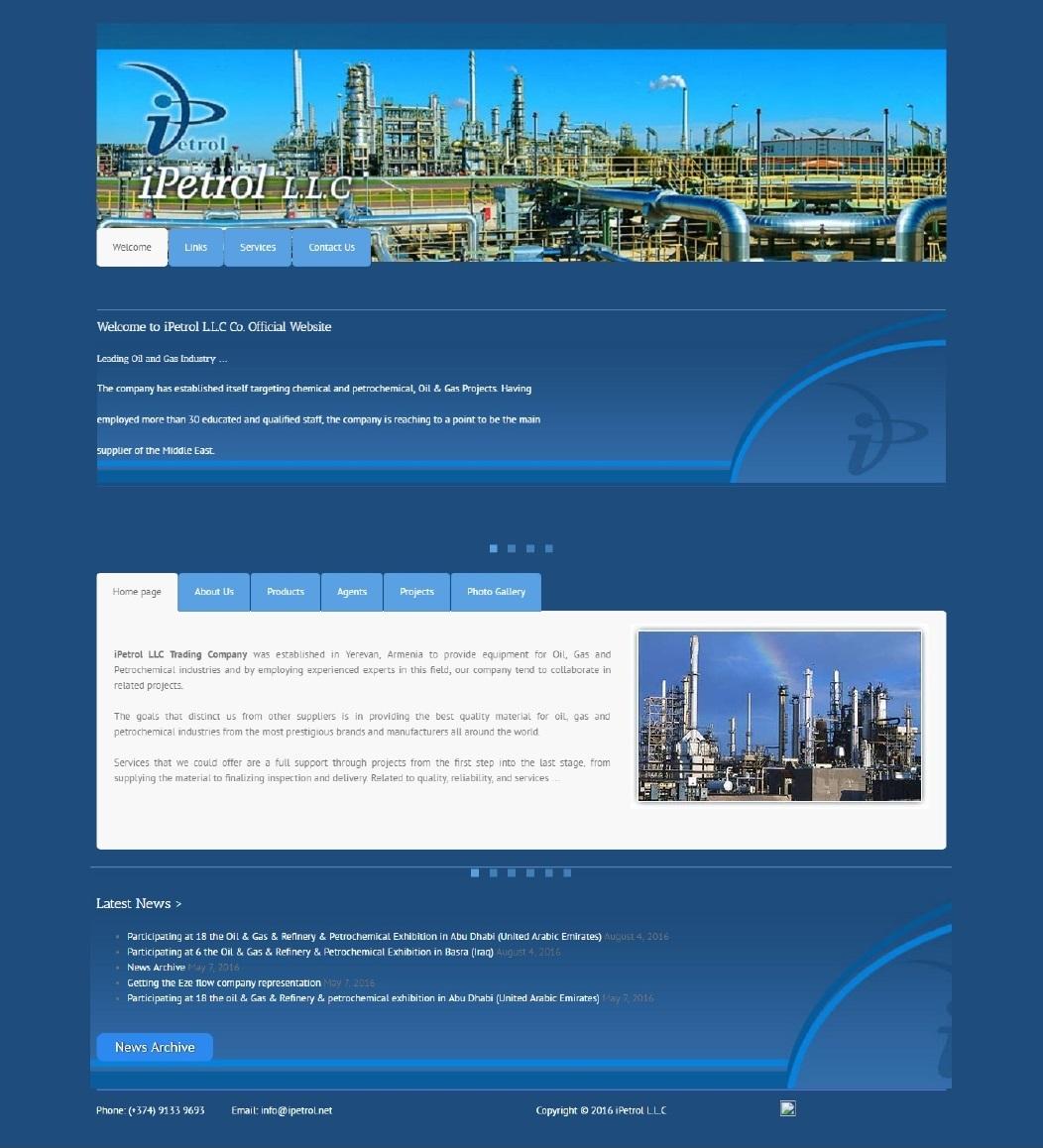 طراحی سایت iPetrol