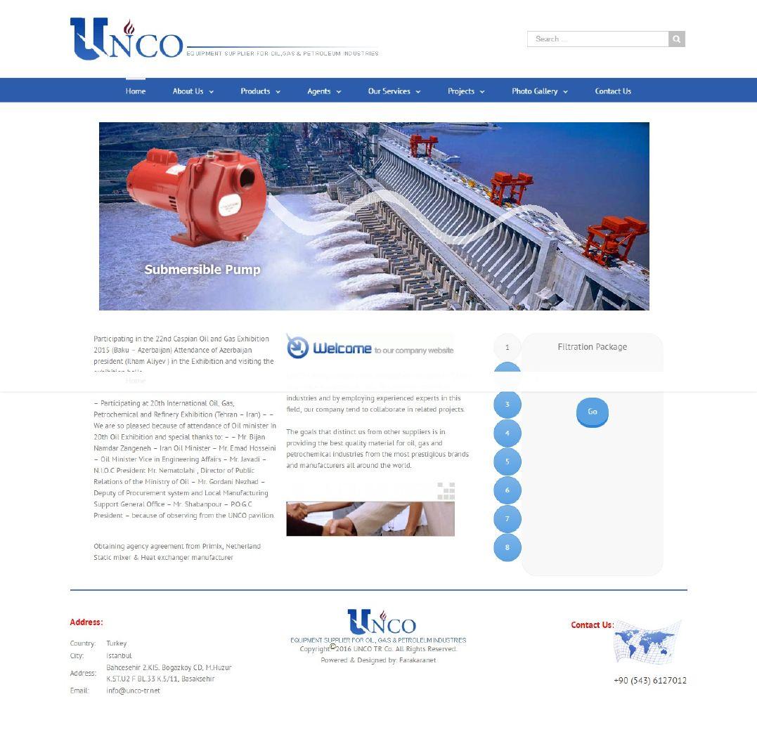 طراحی سایت UNCO