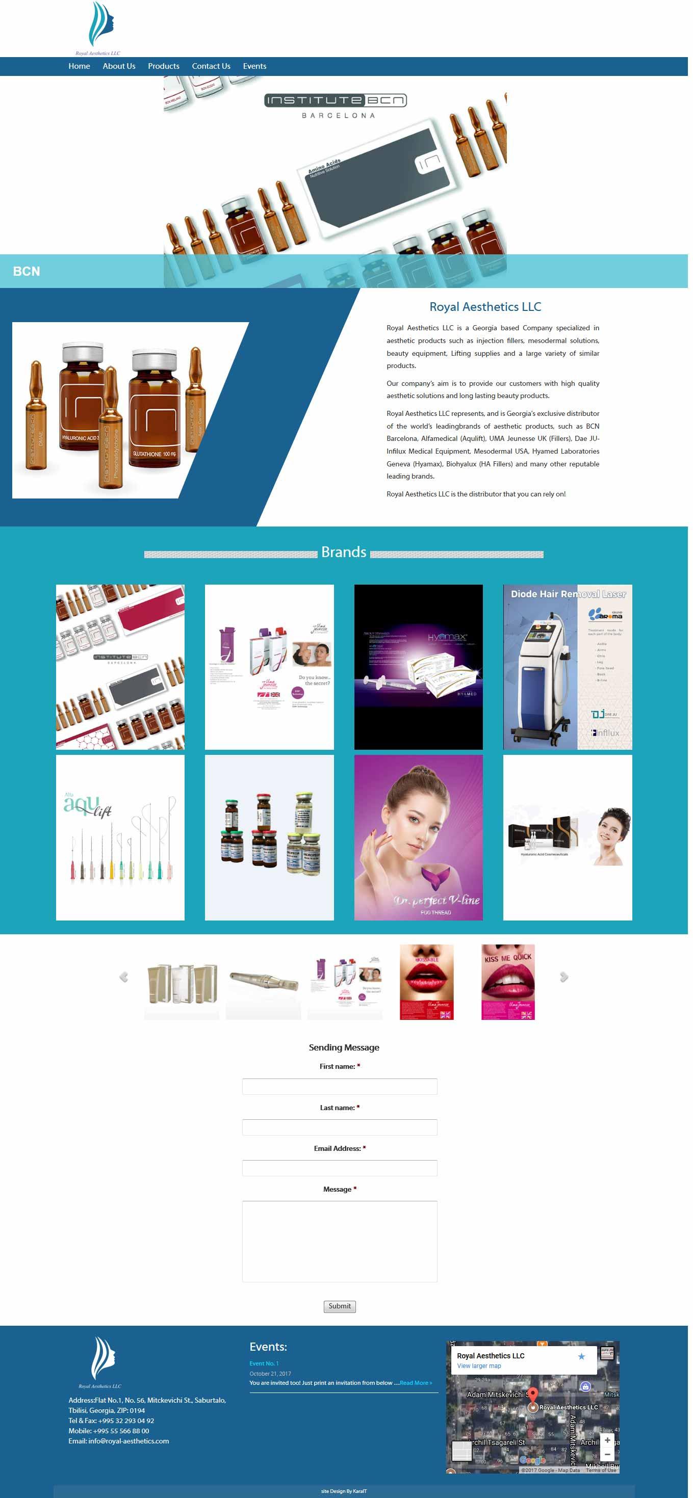 طراحی سایت شرکت فروش محصولات زیبایی رویال